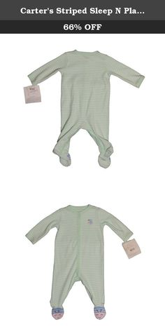 Carter's Striped Sleep N Play (Baby) - Mint Bee-6 Months. Carters Striped Sleep N Play (Baby) - Mint Bee Carter's is the leading brand of children's clothing, gifts and accessories in America, selling more than 10 products for every child born in the U.S. The designs are based on a heritage of quality and innovation that has earned them the trust of generations of families.