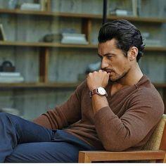 David Gandy Style, David James Gandy, Casual Wear For Men, Photography Poses For Men, Well Dressed Men, Hairy Men, Gentleman Style, Stylish Men, Male Models