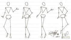 Desenhando croqui de moda #1 | Diana Santos Fashion Designer