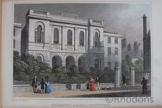 """Drawn by Tho H Shepherd engraved by S Lacey Believed to be taken from a copy of """"Modern Athens! Displayed in a Series of Views : or, Edinburgh in the Nineteenth Century"""" (London : Antique Prints, Vintage Prints, Athens, Edinburgh, Art For Sale, 19th Century, Beautiful Places, Street View"""