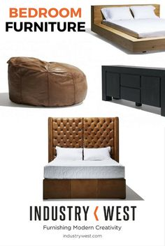 Modern, midcentury, industrial style ... for your bedroom.