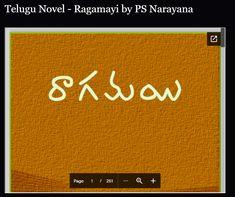 Telugu Novel - Ragamayi by PS Narayana Free Novels, Free Books, Telugu, Reading Online, Pdf