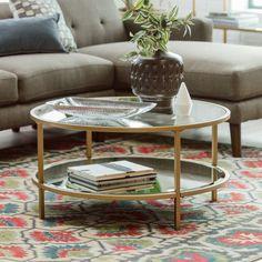 Belham Living Lamont Round Coffee Table - Gold