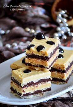 De mult nu mai facusem o ciocolata de casa si era momentul pentru un astfel de desert mai ales ca noi suntem toti maaaaari fani ai acestui dulce. Asa ca i-am facut loc printre alte retete care asteptau sa fie incercate. Acum am incercat o noua combinatie, un duet de ciocolata neagra si ciocolata cu […] Holiday Desserts, Easy Desserts, Delicious Desserts, Romanian Desserts, Sweet Pie, Sweets Cake, Bakery Cakes, Something Sweet, Desert Recipes