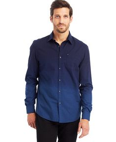 d2c84fdeaa Kenneth Cole New York Dip-Dyed Indigo Shirt   Reviews - Casual Button-Down  Shirts - Men - Macy s