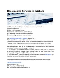 Bookkeeping Services in Brisbane
