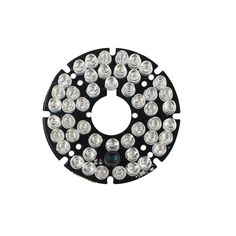 uxcell 72 LEDs 850nm IR Infrared Board 90 Degree Round Plate IR Illuminator Board Bulb for CCTV Security Camera 3pcs