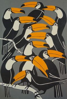 toucan print by komitaart on Etsy, $25.00 I just order this for my Guest Room.  I hope I love it.
