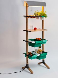 Reinhard Dienes-Sunday // Kitchen Grocery // Wood and bended steel 180 x 55 x 35 cm