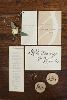 Nature inspired invites. Caliber Creative. Photography By / sarahkatephoto.com, Coordination By / christywalterseventplanning.com