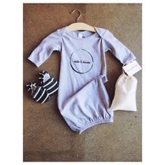 The cutest little 'Take me home' outfit! Aren't baby gowns just the cutest!   Baby gowns, trendy baby , baby boutique, clam feet shoes, baby shoes, newborn, take me home outfit
