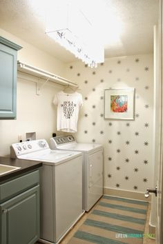 Gorgeous laundry room before and after - such a major improvement with easy changes!