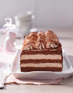 Gourmet Desserts, No Bake Desserts, Chocolate Butter, Chocolate Recipes, Cupcake Recipes, Dessert Recipes, Nougat Torte, Nougat Recipe, German Baking