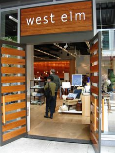 West Elm Entrance. If I ever get the chance to go in one of these stores... I will leave a broke woman lol