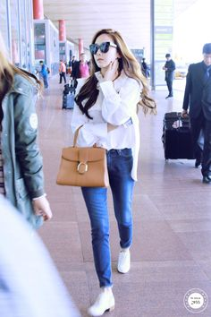 Jessica Arrived Gimpo Airport From Beijing Snsd Airport Fashion, Snsd Fashion, Fashion Line, Daily Fashion, Girl Fashion, Fashion Outfits, Style Outfits, Kpop Outfits, Korean Outfits