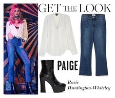 """""""Rosie Huntington-Whiteley Paige Denim Fall 2016 AD Campaign #6"""" by valenlss ❤ liked on Polyvore featuring Paige Denim, Yves Saint Laurent and CO"""