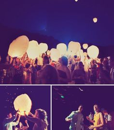Sky Lanterns     Symbolize the start of a bright new journey by inviting guests to write their own wishes on colourful lanterns, and launch them into the starry night sky. Not only are these floating lights a mesmerizing sight to behold, but they're also a fun alternative to traditional fireworks.     Photography by  W. Scott Chester Photography . Image via  Green Wedding Shoes .