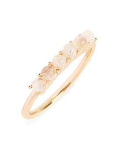 semiprecious stone stacked ring