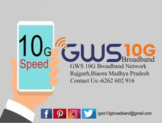 GWS 10G Broadband Network Rajgarh,Biaora Madhya Pradesh Contact Us:-6262 602 916 #High_speed_wireless_Internet_Rajgarh #Broadband_Internet_Connection_Rajgarh #Unlimited_Wifi_Plans_for_Home_Rajgarh #Get_broadband_internet_access_Rajgarh Fastest Internet, Contact Us, Madhya Pradesh, High Speed, Tech Companies, Wifi, Connection, Company Logo