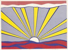 ROY LICHTENSTEIN - SUNRISE - GALERIE FLUEGEL-RONCAK http://www.widewalls.ch/artwork/roy-lichtenstein/sunrise/ #Print