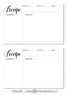 free recipe card download wwwblackandwhiteobsessioncom