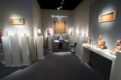 Mermoz at BRAFA 2014, 25 Jan-2 Feb. Among the highlights a Maya conch engraved with a human face of 550-850 AD