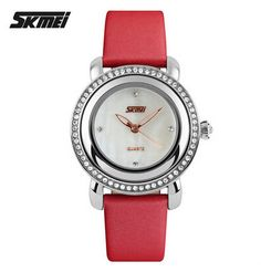 Women Rhinestone Watches Luxury SKMEI Brand Fashion Ladies Dress Quartz Watch Hour Clock Women Waterproof Wrist watch - Online Shopping for Watches