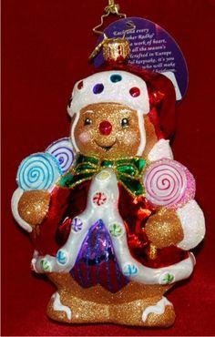 Ginger Sweet Claus Radko Ornament