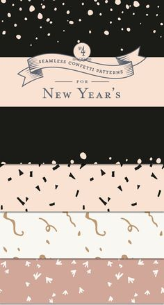 Start your New Year's party planning off right: seamlessly repeating confetti patterns.These patterns are perfect for all your New Year's design needs. FREE download!
