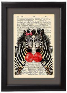 CODE/167 Illustration, Happy Zebras and Bubblegum pop. ----------------------------------------------------------------------------------- BUY 2, GET
