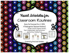 Help your little ones learn classroom routines more quickly with picture icons.   They help know what step comes next when completing a task.  Visuals schedules give step-by-step directions in pictures.  Using visuals helps students become independent, much more quickly.