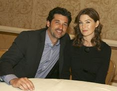 Islands in the stream, that is what we are.: Patrick Dempsey and Ellen Pompeo Greys Anatomy Derek, Greys Anatomy Couples, Greys Anatomy Cast, Grey Anatomy Quotes, Meredith Grey, Ellen Pompeo Patrick Dempsey, Dr Grey, Netflix, Drama Tv Shows