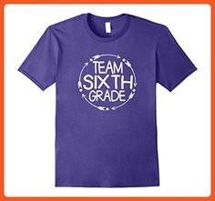 Mens Team Sixth 6th Grade Tshirt Teacher First Day School Last Medium Purple - Careers professions shirts (*Partner-Link)