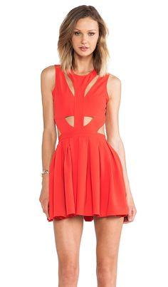 overs + Friends Cutting Corners Dress in Red