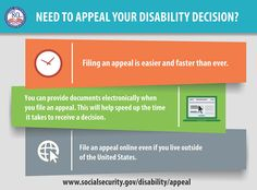 Appealing a disability decision online is now faster. You can now upload documents to support your appeal www.ssa.gov/disability/appeal