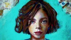 Artodyssey: Smaragda Papoulia - Emerald Papoulia-Vasilakoudi - Παπούλια Σμαράγδα Hair Styles, Painting, Boys, Girls, Beauty, Greek, Child, Artists, Hair Plait Styles