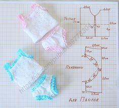 KasatkaDollsFashions - вязаная одежда для кукол Sewing Barbie Clothes, Barbie Sewing Patterns, Baby Dress Patterns, Baby Doll Clothes, Sewing Dolls, Sewing Patterns Free, Doll Patterns, Dress Clothes, Clothing Patterns