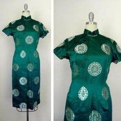 IN THE SHOP Vintage 1970s Green Asian Inspired Kimono Dress (32/26/36) Size XS http://ift.tt/1lP6fC1