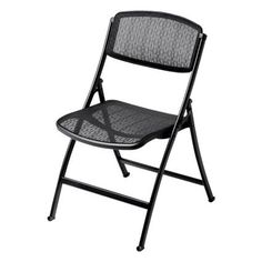 Office Star Pro-Line II 81308 Deluxe Folding Chair With Black ProGrid® Seat and Back and Black Finish Gangable Plastic Folding Chairs, Outdoor Seating, Outdoor Chairs, Adirondack Chairs, Office Star, Office Seating, Office Chairs, Chair Types