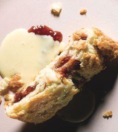 Rhubarb and Raspberry Jam Roly-Poly with Vanilla Custard Sauce: Recipe: bonappetit.com