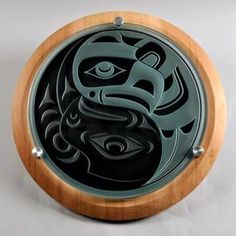 "Qwalsius Shaun Peterson (Coast Salish, Washington state), ""North and South.""  Glass."