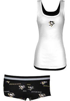 College Concepts Pittsburgh Penguins Women's Prospect Tank and Boyshort Set - Shop.NHL.com