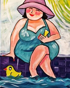Drawing people woman artists Ideas for 2019 Plus Size Art, Fat Art, Beach Artwork, Fat Women, Drawing People, Fabric Painting, Easy Drawings, Female Art, Art Girl