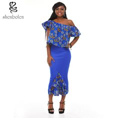 >> Click to Buy << Shenbolen 2017 summer african dress for women Fashion sexy lady dress long dress African print fake two pieces of lotus leaf sex #Affiliate
