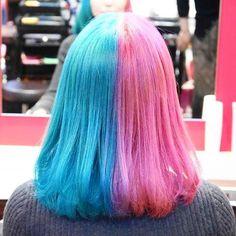 WEBSTA @ rave_action_and_hair - マニパニ⭐️ブルー→色々混ぜました・ピンク→クレオローズ#マニパニ #マニックパニック #ゆめかわいい #高円寺 #manicpanic