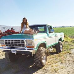 These Girls Love Diesel Trucks. Read more. 1979 Ford F150, 1979 Ford Truck, Ford Pickup Trucks, Jeep Truck, Chevy Trucks, Ford 4x4, Obs Truck, 4x4 Trucks, Custom Trucks