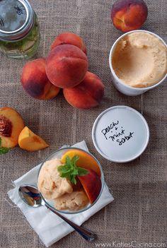 Peach & Mint Sorbet - Katie's Cucina | Katie's Cucina