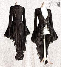 Gothic Charm School: pretty things • somniaromantica: Lace long cardigan, decorated...