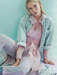 "marilynne: ""Anastasia Kolganova By An Le For Dazed And Confused Korea April 2015 "" Pagan Poetry, Fashion Details, Fashion Design, Fashion Trends, Quirky Fashion, Pastel Fashion, Dazed And Confused, Pretty Pastel, Editorial Fashion"