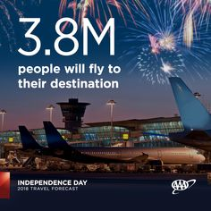 More people will fly to their #IndependenceDay destinations this year than ever before. Pack your patience and get to the airport at least 2 hours before your flight. #travelforecast www.newsroom.aaa.com Summer Travel, Amazing Destinations, Independence Day, Patience, Summertime, National Parks, Boat, Vacation, People